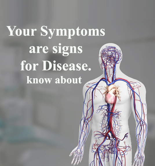 Which symptoms are related to your diseases?